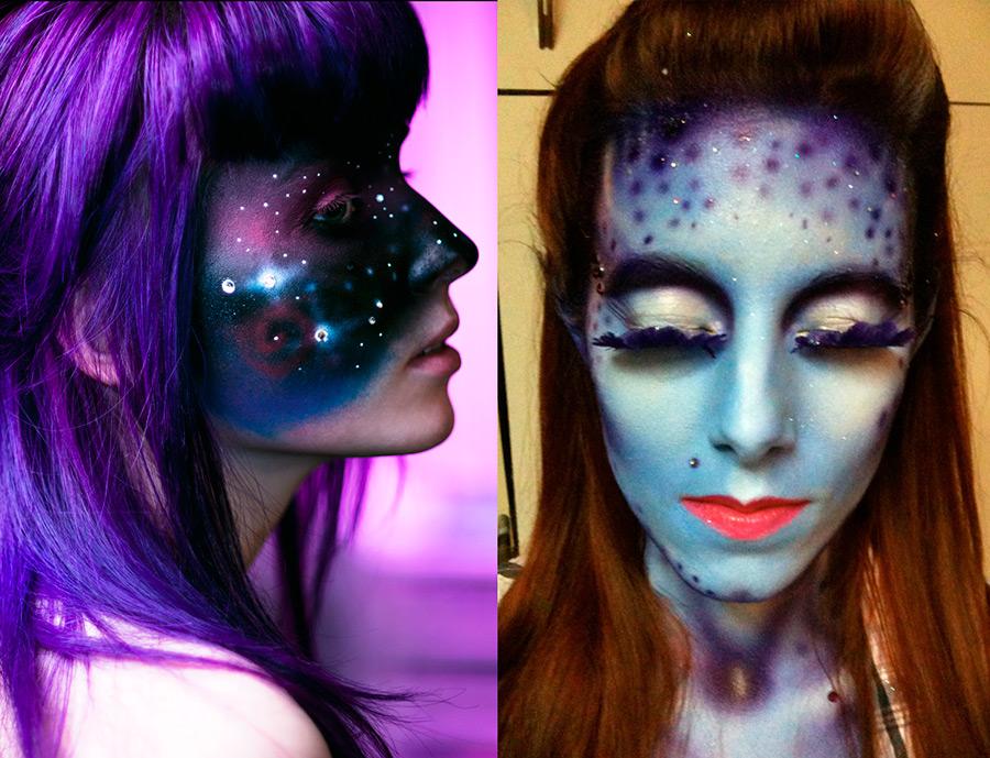 Космический макияж на Хэллоуин