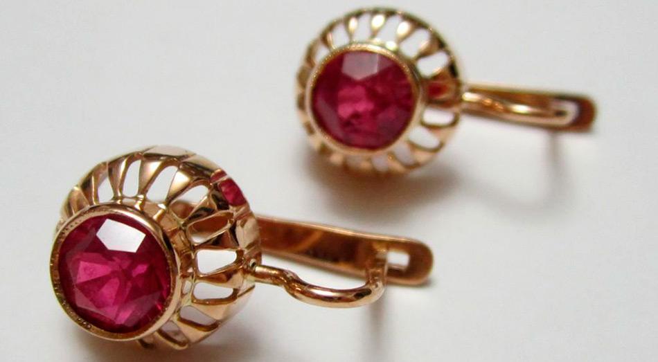 Советские украшения – золотые серьги из СССР