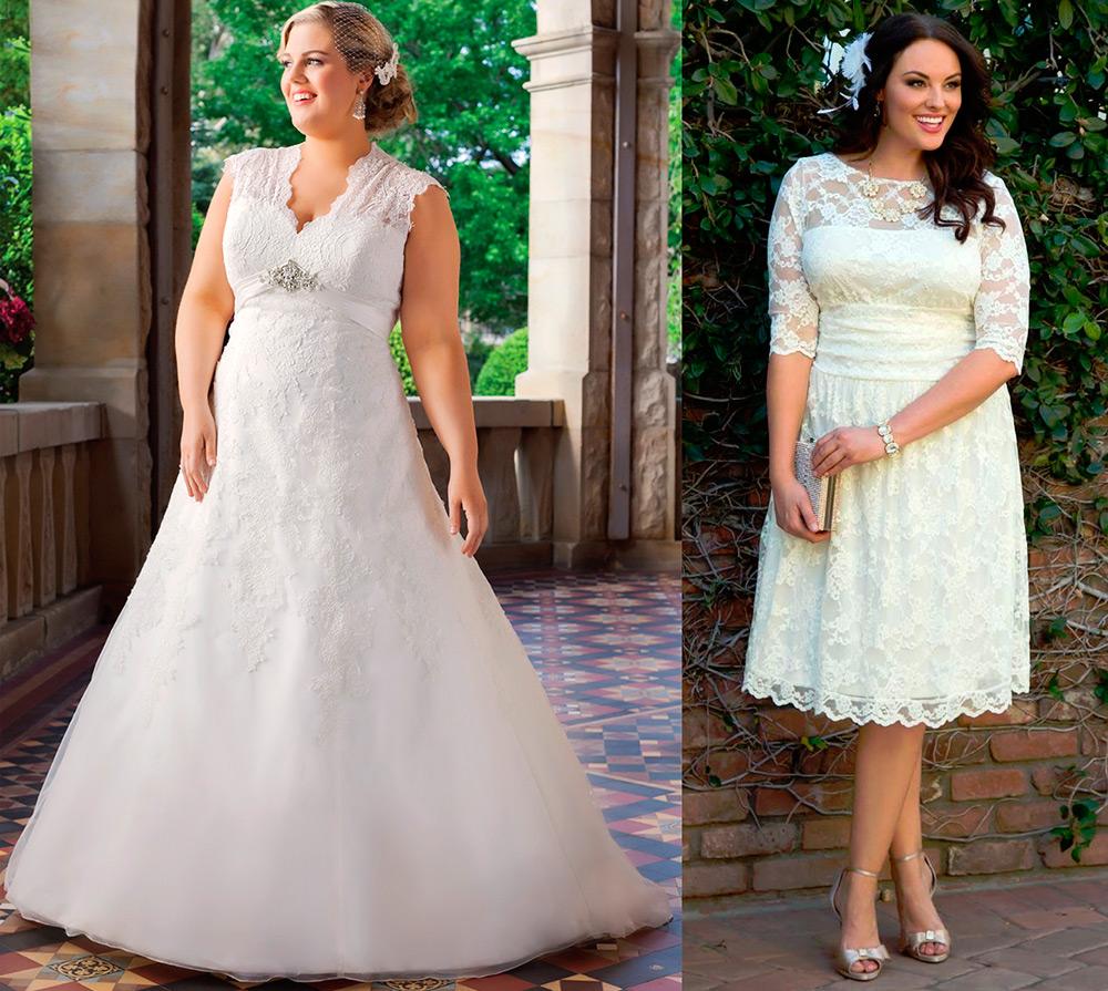 Простое свадебное платье для полных