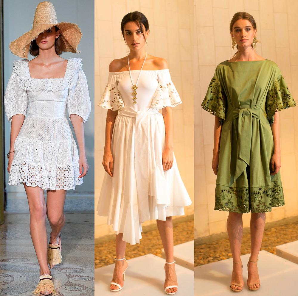 Вышивка ришелье и модная женская одежда