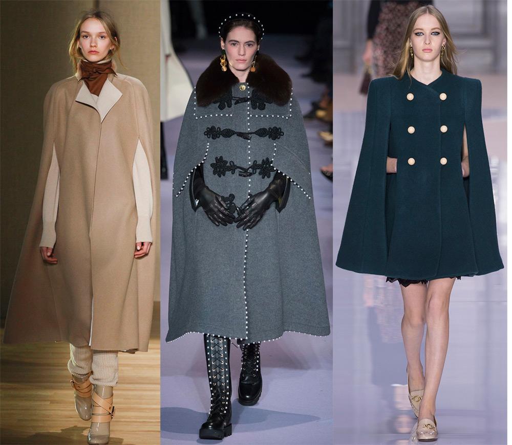 пальто-накидки 2017-2018