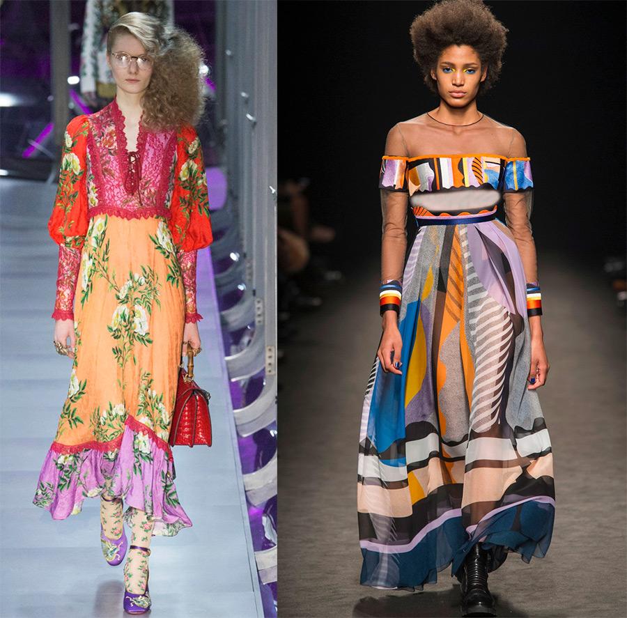 Яркие цветные платья пэчворк