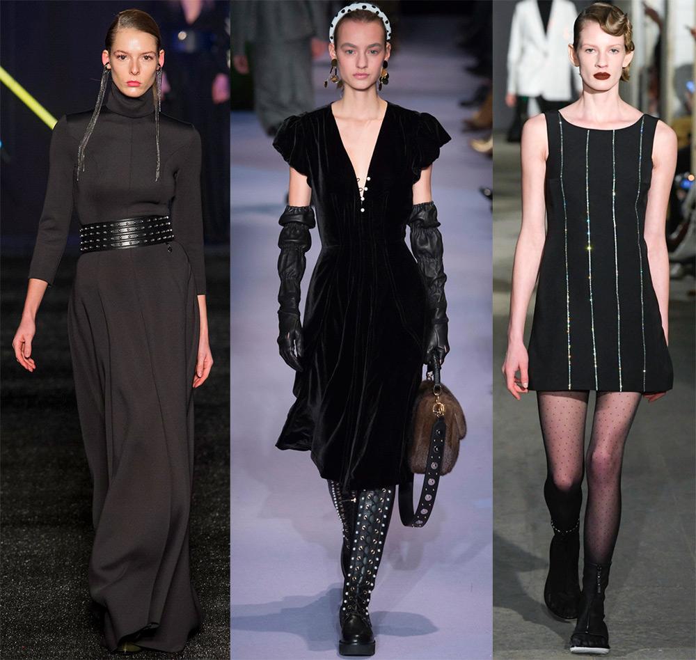 Красивые черные платья 2017-2018
